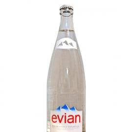 Eau plate Evian verre 1L