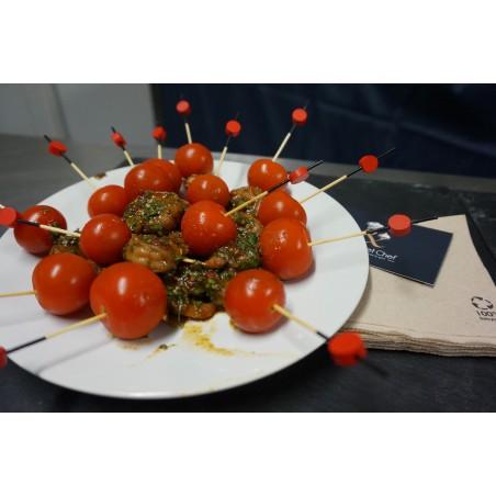Ballotine de volaille aux épinards, crumble au thym. Ecrasé de carottes au cumin et tomates confites